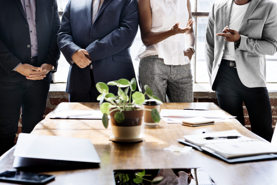 Business people brainstorming in a meeting
